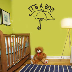 It's a Boy Vinyl Wall Decal ce013itsaboyviii, Matte White, 72 in. - Vinyl Wall Quotes are an awesome way to bring a room to life!