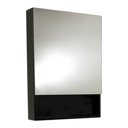 "Fresca - Fresca Small Espresso Bathroom Medicine Cabinet w/ Small Bottom Shelf - Dimensions:  23.63""W x 33.5""H x 5""D. Soft Closing Mirror.   This Espresso medicine cabinet normally comes with the Amato vanity (FVN6124ES), but can be purchased separately.  It features a small bottom shelf and a mirrored medicine cabinet."