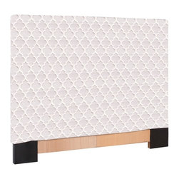 Crawford Natural King Slipcovered Headboard - The Slip covered Headboard is constructed with a sturdy wood frame that is padded for maximum comfort, making it solid yet cozy. This piece features a lovely, tonal lattice pattern.