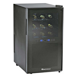 Wine Enthusiast - Wine Enthusiast 18-Bottle Dual-Zone Free Standing Wine Cooler - Split personality. This dual-zone wine cooler has room up above for your reds while the space down below is ideal for your whites. With its two separate compartments and adjustable temperatures for each section, you can maintain your favorite varietals at exactly the right degree.
