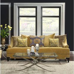 Furniture of America Visconti Premium Fabric Sofa -