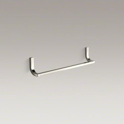 """KOHLER - KOHLER Loure(R) 18"""" single towel bar - Loure offers thoughtful and versatile accessories that coordinate with a wide range of contemporary faucets and interiors. This towel bar features a straight rod suspended by bars that gently dip outward, for a personalized accent in your bath or powder r"""
