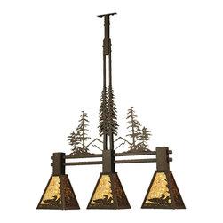 """Meyda Lighting - Meyda Lighting 70028 30""""L Loon Tall Pines 3 Lt Island Pendant - Meyda Lighting 70028 30""""L Loon Tall Pines 3 Lt Island Pendant"""