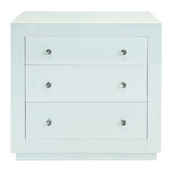 Worlds Away - Worlds Away 3-Drawer Ice Glass Chest ALICIA ICE - Worlds Away 3-Drawer Ice Glass Chest ALICIA ICE
