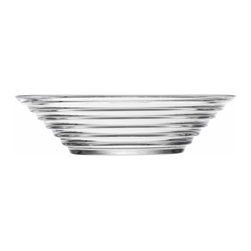 Iittala - Aino Aalto Bowl 13.5 Oz. Clear - Functional items that happen to look beautiful are among life's finest pleasures. This banded glass bowl — suitable for simple fare such as soup, salad and cereal — adds classic elegance to your table and stands in testament to your subtle style.
