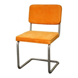 NPD (New Pacific Direct) Furniture - Bauer Dining Chair (Set of 2) by NPD Furniture, Fun Orange - Simple and durable, this Bauer KD fabric or bonded leather dining side chair will be a great addition to your dining area. This chair has stainless steel frame.