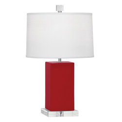 Robert Abbey - Harvey Table Lamp, Ruby Red - -1-60W Max.