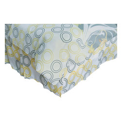 Rizzy Home - Flowers Yellow Twin Size Kids Bed Skirt - Complete your bedding ensemble with this fun bed skirt.
