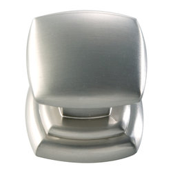Hickory Hardware - Euro-Contemporary Stainless Steel Cabinet Knob - Often characterized with clean, sleek lines. Marked with solid colors, predominantly muted neutrals or bold bunches of color. An emphasis on basic shapes and forms.