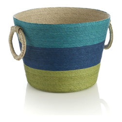 Riviera Striped Basket - Take your inspiration from the sea with this handwoven basket.