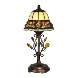 Dale Tiffany - Dale Tiffany TA90228 Pebblestone Traditional Tiffany Accent Table Lamp - Pebblestone