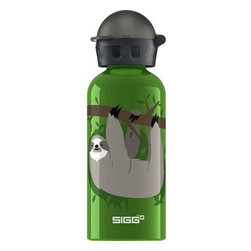 Sigg Water Bottle - Cuipo Steve The Sloth Kids  - .4 Liters - Cuipo, a brand with a mission to save the rainforest, has collaborated with SIGG Switzerland, the manufacturer of premium Swiss-made bottles, to bring a unique cast of characters and designer water bottle to the masses. Even better, when you buy this Cuipo-branded SIGG bottle and enter an activation code, one square meter of rainforest will be preserved in your name!