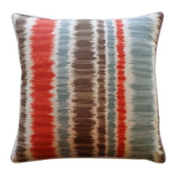 Jiti Carlos Pillow - Artistic colors brighten up your surroundings with the Jiti Carlos Pillow. Made with a cotton cover and a feather/down fill, this pillow provides a burst of color with textured lines with a modern art-deco style. Color and size options available. Dry clean recommended.About Jiti PillowsJiti has a wide range of bedding and accent pillow products, so you're sure to find the perfect complement for your home decor in their line. The company is based in Los Angeles, California, and all of their products are proudly made in America. Using luminous colors, rich patterns, and varied textures, Jiti creates products that can help you give your room an exotic makeover in minutes. Goga Bouquet, Jiti's designer, gets her inspiration from her Argentine heritage and her fascination with Indian culture. The result is beautiful, exotic pieces that still have a modern feel.