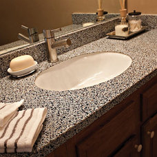 Contemporary Vanity Tops And Side Splashes by Granite Transformations