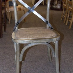 Set of 8 Restoration Hardware Style Dining Chairs - This is a fabulous set of 8 cross back Restoration Hardware style dining chairs. Priced as a set!
