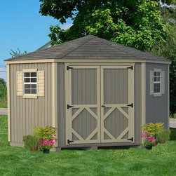 Little Cottage - Little Cottage 10 x 10 ft. 5-Sided Classic Panelized Garden Shed Multicolor - 10 - Shop for Sheds and Storage from Hayneedle.com! Additional FeaturesComes precut and ready to assembleDoor handle latch locksTrim and siding is 98% pre-primedDouble doors makes entering and exiting easyComes with hardware needed to assembly Crafted from wood and high quality composite material the Little Cottage 10 x 10 ft. 5-Sided Classic Panelized Storage Shed Kit is both quaint and classic. Arriving at your door precut and ready to be assembled this shed has Smartside siding which is pre-fastened onto the wall panels to insure the panels are square as well straight trim that is also pre-fastened to the panels. Measuring 10L x 10W x 9H feet this shed also features a door handle which locks to protect your items a large double door and comes complete with the hardware needed to assemble the shed.For your convenience liftgate service is included with this purchase. This means that upon delivery the carrier will use a liftgate on the truck to lower your item to the ground. You will then need a dolly or handtruck or assistance with the product from that point on. Many retailers charge for this service of getting the package off the truck or require the customer to do it themselves.About The Little Cottage CompanyNestled in the heart of Ohio's Amish country The Little Cottage Company resides in a quaint slow-paced setting where old-fashioned craftsmanship and attention to detail have never gone out of style. Their experienced carpenters and skilled designers take great pride in creating top-quality pre-built models and Do-It-Yourself kits of playhouses storage sheds and more.