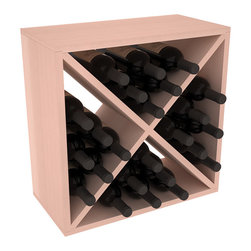 "Wine Racks America - 24 Bottle Wine Storage Cube in Premium Redwood, White Wash Stain - A wine rack focused on flexibility; buy 1 or buy 100. Perfect for stacking, filling small spaces, and converting that ""underneath"" space into wine storage. Mix and match finishes to illustrate your true wine-lover's spirit or contrast colors for a modern wine rack twist."