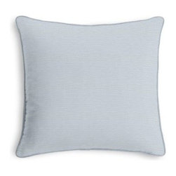 Pale Blue Lightweight Linen Custom Throw Pillow - Black and white photos, Louis XIV chairs, crown molding: classic is always classy. So it is with this long-time decorator's favorite: the Corded Throw Pillow. We love it in this lightweight linen blend with characteristic light slubs in pale powder blue.