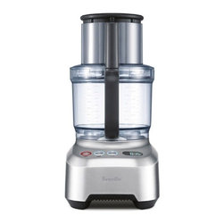 Breville - Breville Sous Chef Food Processor - It slices, shreds, juliennes and purees, and that's only the beginning. This large 16-cup food processor has a powerful 1200-watt motor with different speed and pulse settings, and accessories that include a serrated blade, slicing disc, French fry cutter, whisking disc and dough blade. There's even a timer so you can count the seconds until you get to eat those tasty treats you make.