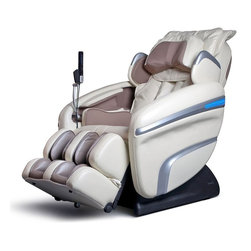 Osaki - Osaki Zero Gravity Massage Chair With Speakers - Cream - The OS-7200H is loaded with features to provide a stimulating and thorough massage experience including heat therapy. It has all the functions of the OS-4000 plus a built in docking station for your iPod, iPhone or MP3 player. There's even a pair of high quality compact speakers in the back rest to provide your favorite music during the massage. Press the Music Sync button and your chair's vibration massage will follow along with the beat of the music and you can even choose from 6 levels of vibration intensity.