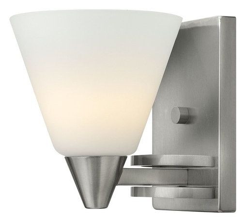 Hinkley Lighting - Hinkley Lighting 3660BN Dillon Transitional Wall Sconce - Dillons contemporary  stem hung design features a floating cast double ring intersection as the centerpiece. The absence of a center tube contributes an airy grace to its robust tube construction.