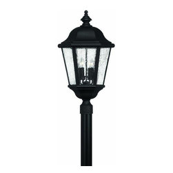 Hinkley - Hinkley Edgewater 4-Light Black Post Light - 1677BK - This 4-Light Post Light is part of the Edgewater Collection and has a Black Finish. It is Outdoor Capable.