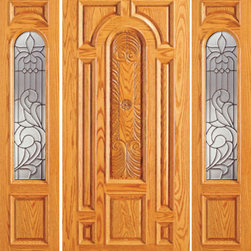 "Prehung Mahogany Arch Lite Entry Two Side lights Door - SKU#    525-CP-1-2-GBrand    AAWDoor Type    ExteriorManufacturer Collection    Unique Entry DoorsDoor Model    Door Material    WoodWoodgrain    MahoganyVeneer    Price    2580Door Size Options    [30""+2(12"") x 80""] (4'-6"" x 6'-8"")  $0[30""+2(18"") x 80""] (5'-6"" x 6'-8"")  $0[32""+2(12"") x 80""] (4'-8"" x 6'-8"")  $0[32""+2(18"") x 80""] (5'-8"" x 6'-8"")  $0[36""+2(12"") x 80""] (5'-0"" x 6'-8"")  +$10[36""+2(18"") x 80""] (6'-0"" x 6'-8"")  +$10[42""+2(12"") x 80""] (5'-6"" x 6'-8"")  +$170[42""+2(18"") x 80""] (6'-6"" x 6'-8"")  +$170[30""+2(18"") x 84""] (5'-6"" x 7'-0"")  +$212[36""+2(18"") x 84""] (6'-0"" x 7'-0"")  +$232[42""+2(18"") x 84""] (6'-6"" x 7'-0"")  +$452[30""+2(12"") x 96""] (4'-6"" x 8'-0"")  +$472[30""+2(18"") x 96""] (5'-6"" x 8'-0"")  +$472[32""+2(12"") x 96""] (4'-8"" x 8'-0"")  +$472[32""+2(18"") x 96""] (5'-8"" x 8'-0"")  +$472[36""+2(12"") x 96""] (5'-0"" x 8'-0"")  +$492[36""+2(18"") x 96""] (6'-0"" x 8'-0"")  +$492  $Core Type    SolidDoor Style    TraditionalDoor Lite Style    Arch LiteDoor Panel Style    Hand Carved Panel , 8 Panel , Raised MouldingHome Style Matching    Colonial , Plantation , VictorianDoor Construction    Engineered Stiles and RailsPrehanging Options    PrehungPrehung Configuration    Door with Two SidelitesDoor Thickness (Inches)    1.75Glass Thickness (Inches)    3/4Glass Type    Triple GlazedGlass Caming    BlackGlass Features    Insulated , TemperedGlass Style    Glass Texture    Glue ChipGlass Obscurity    Moderate ObscurityDoor Features    Door Approvals    FSCDoor Finishes    Door Accessories    Weight (lbs)    850Crating Size    25"" (w)x 108"" (l)x 52"" (h)Lead Time    Slab Doors: 7 daysPrehung:14 daysPrefinished, PreHung:21 daysWarranty    1 Year Limited Manufacturer WarrantyHere you can download warranty PDF document."