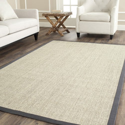 Safavieh - Safavieh Hand-woven Serenity Marble/ Grey Sisal Rug (6' Square) - Innately soft and durable rug will add a warm feel to any home decor. Floor rug is hand-woven of natural fibers. Serenity area rug features a casual motif. Rug is constructed of natural sisal with a natural