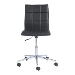 Euro Style - Euro Style Cyd Office Chair X-KLB18171 - Three versions of one great idea. The Cyd chairs. What sets them apart is not only the quality of the manufacturing, it's this very well executed grid like stitching that is applied to the seat and back. It's more comfortable. It has a great look. And contributes to longer wear. Get to know Cyd. You're going to get along well.
