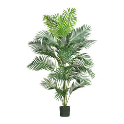 Nearly Natural - 7' Paraidse Palm - Want to add a creative touch to your home or office without spending a fortune? This grand style Paradise palm is sure to do the trick. Standing 7 feet tall, this stately beauty adds life to any decor. Twenty-one natural looking fronds embellish this gorgeous tree from head to toe. Each individual frond is carefully crafted with a lush mix of wispy feathery shaped leaves. Guaranteed to provide years of hassle free beauty.