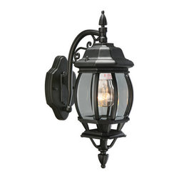 Design House - Design House 505545 Single Light Down Light Outdoor Wall Sconce from the Canterb - Single Light Down Light Outdoor Wall Sconce from the Canterbury CollectionThe Design House 505545 Canterbury Outdoor Downlight, part of the Canterbury Outdoor Lighting Collection, has a classic early American design that complements gothic and traditional architecture. This fixture features a die-cast aluminum finish with clear beveled glass. The finish adds a rustic charm to any patio or porch and illuminates the night with steady glare-free light. This light is perfect for patios and porches and provides beautiful warm lighting. A wall mount with a 4.25-inch back plate attaches to the light for added stability and balance. Use this light to deter burglars and thieves and maintain a well-lit porch. It uses (1) 100-watt bulb (not included) and is UL listed to ensure the highest quality possible. The Design House 505545 Canterbury Outdoor Downlight comes with a 10-year limited warranty to the original purchaser to be free from defect in materials and workmanship. With a strong corrosion resistant finish, this product attests to the quality of all Design House products, and integrates traditional curves with the amenities of industry leading features. Design House offers products in multiple home decor categories including lighting, ceiling fans, hardware and plumbing products. With years of hands-on experience, Design House understands every aspect of the home decor industry, and devotes itself to providing quality products across the home decor spectrum. Providing value to their customers, Design House uses industry leading merchandising solutions and innovative programs. Design House is committed to providing high quality products for your home improvement projects.Features: