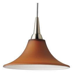 Progress Lighting Illuma-Flex Track System Kitchen - 12V low voltage T4 mini-pendant trumpet with amber glass.