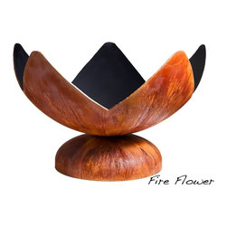 "Ohio Flame - Fire Flower Fire Bowl, 41 Inch Diameter - Dimensions: 30"" in Diameter x 20""H, 75 lbs; .156 inch thickness"