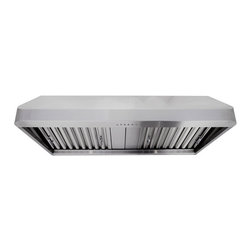 "Proline - Proline PLJW 121 Under Cabinet Range Hood, 36 - Professional Range Hood. Model PLJW 121 With Electronic Controls, 4 Speed, 900 CFM & Stainless Steel Baffle Filters! (900 cfm blower included) One of the most powerful and quiet Range Hoods on the market, 900 cfm! Built for the most demanding applications this hood is Designed to be used! Stainless Baffle Filters that are easy to remove, and the quietest 385 CFM setting in the industry. (Based on comparable size and dual local blower capacity). 900 CFM total capacity with Elegant and Efficient ""Time Delay"" Touch Controls. This Range Hood comes with blower and fan completely installed, and factory tested. This makes the installation one of the easiest in the industry."
