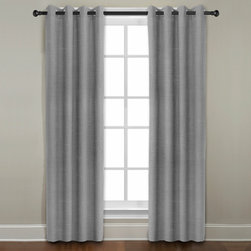 Grand Luxe - Grand Luxe Grey All Linen Gotham Grommet Window Panel - Add a touch of warmth and comfort to your living room with this beautiful grommet window panel. Constructed from pure linen,this unlined panel features a solid,soft gray color,making it ideal for most decorating and color schemes.