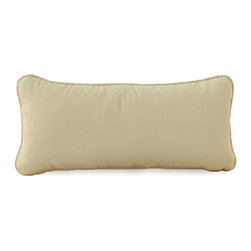 Frontgate - Rustic Outdoor Bolster Pillow, Patio Furniture - Specially formulated high-quality resin provides superior UV resistance and is formulated for a realistic look and feel. Generously proportioned, hand-welded aluminum frames accommodate plush outdoor cushions for supreme comfort. Cushions are covered in exclusive Sunbrella fabrics, the finest solution-dyed, all-weather material available. Sectional items include matching U-clip that slides over the top of each chair sections to secure attachment. Chaise lounge features five adjustable positions for custom comfort. With its transitional design and comfortable, generously proportioned frames, the Rustic Collection by Summer Classics&reg is perfect for any outdoor location. Each piece is crafted with high-quality resin wicker that's hand-woven over durable, non-corrosive aluminum frames to create furniture that will withstand the elements season after season. . . . . . Painted surface on dining chairs and tables not recommend for saltwater environments.. Dining table requires assembly. Note: Due to the custom-made nature of the cushions, any fabric changes or cancellations made to the Rustic Collection must be made within 24 hours of ordering.