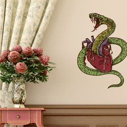 Heart Vinyl Wall Decal HeartUScolor021; 72 in. - Vinyl Wall Decals are an awesome way to bring a room to life!