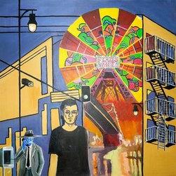Surveillance (Original) by Chris Berger - acrylic on canvas