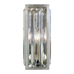 Fine Art Lamps - Crystal Enchantment Sconce, 815650ST - Energize a hallway or transform a room with the crystal Sconce. Bordered with a silver-leaf frame, multifaceted crystals create enchanting light displays.