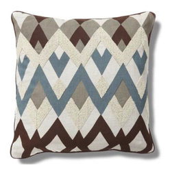 Apt2B - Legacy Toss Pillow - This zigzag pillow is kind of like an updated version of argyle, only way cooler. The color palette is more low-key, but the design complements it by being a little funky. This would be perfect for a media room or as an accent in a teenager's bedroom.