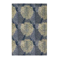 Chandra Rugs - Hand-Tufted Designer Wool Rug ALF2109 - 7'9 x 10'6 - Hand-tufted Designer Wool Rug - ALF2109 - 7'9 x 10'6