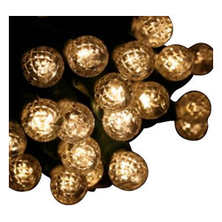 """Seasonal Source - 70 G12 Warm White String Lights, 4"""" Spacing, White Wire - Our best value professional G12 LED strand is available with a standard plug end, one piece construction, and is energy star rated!"""