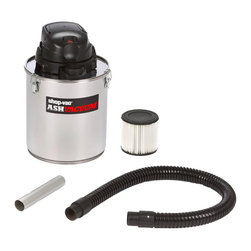 Shop Vac - 5-gallon Stainless Steel Ash Vacuum - With a powerful bypasss motor and durable stainless steel construction, this five-gallon ash vacuum is designed to clean up messes from your fireplace, wood stove, grill and more. A two-stage filtration system keeps ashes from discharging with exhaust.