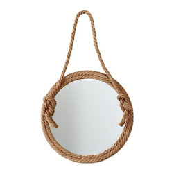 Top Rope Mirror - This mirror is a ton of fun for a kids' space, and the rope brings in texture and warmth.