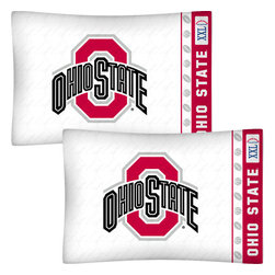 Store51 LLC - NCAA Ohio State Buckeyes Football Set of Two Pillowcases - Features: