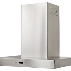 Cavaliere - Cavaliere-Euro SV218Z2-I36 Stainless Range Hood - 218W Island Mounted Range Hood with 6 Speeds, Timer Function, LCD Keypad, Grease Filters, and Halogen Lights