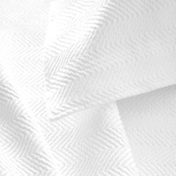 Pine Cone Hill - herringbone matelasse coverlet (white) - Grown-up herringbone gets a playful update with a wide weave and an array of vibrant colors on our matelasse coverlet.��This item comes in��white.��This item size is��various sizes.