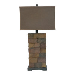 Crestview Collection - Crestview Collection CIAUP474 Sedona Tall Table Lamp - Crestview Collection CIAUP474 Sedona Tall Table Lamp