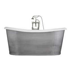 "Penhaglion - The Pershore68 - 68"" Cast Iron French Bateau Tub Package from Penhaglion - Product Details"