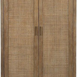 Blake Grey Wash 2-Door Cabinet | Crate&Barrel